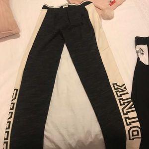 Straight cut pink track pants